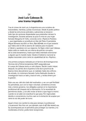Capítulo 14 | José Luis Cabezas II: una trama impúdica - Perfil.com