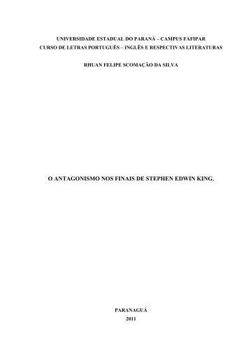 Leia aqui o trabalho completo - ensaios sobre literatura do medo