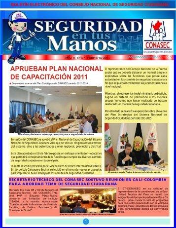 Boletín febrero - Consejo Nacional de Seguridad Ciudadana