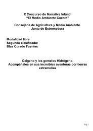 """X Concurso de Narrativa Infantil """"El Medio Ambiente Cuenta ..."""