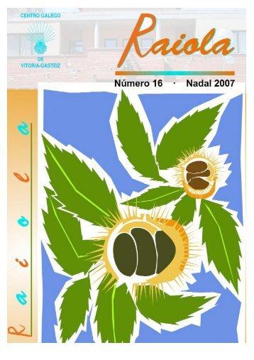 + Descargar revista nº 16 (PDF) - Centro Gallego de Vitoria