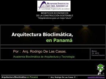 Arquitectura Bioclimática en Panamá