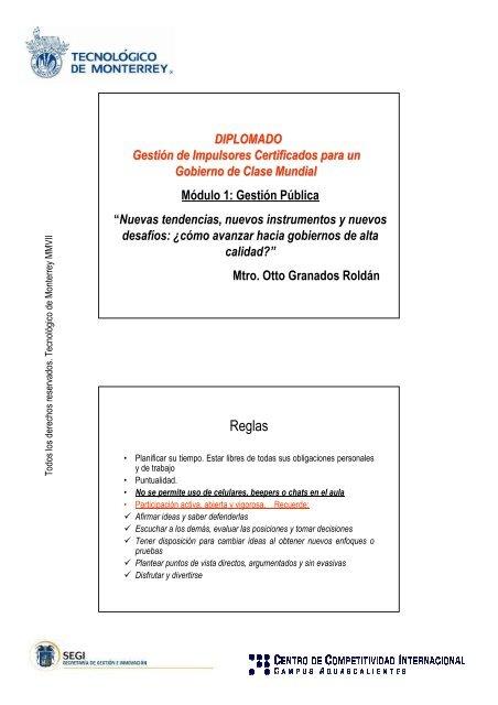 Reglas Gobierno De Aguascalientes