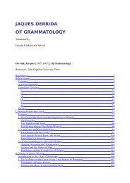 JAQUES DERRIDA OF GRAMMATOLOGY