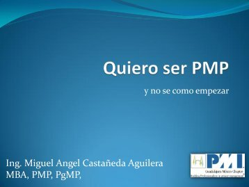 Quiero ser PMP - Project Management Institute