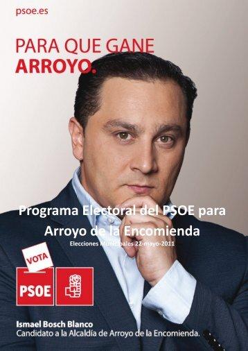 Programa Electoral del PSOE para Arroyo de la ... - Arroyo al Día