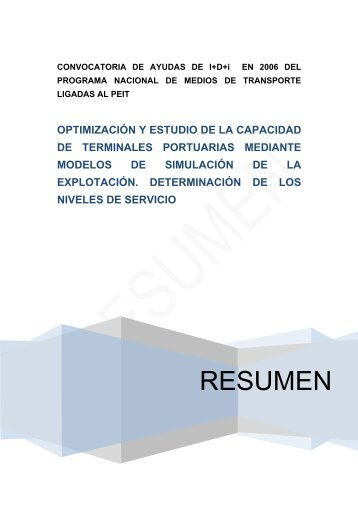 informe científico-técnico - Cedex