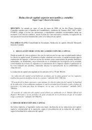 Reducción de capital: aspectos mercantiles y contables - CES Felipe II