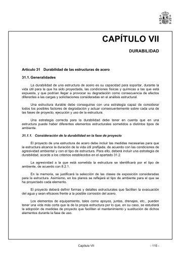 CAPÍTULO VII - Instrucción de Acero Estructural (EAE)