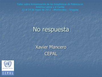 Xavier Mancero, CEPAL
