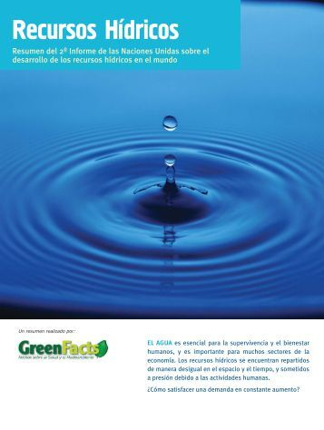 Recursos Hidricos - GreenFacts