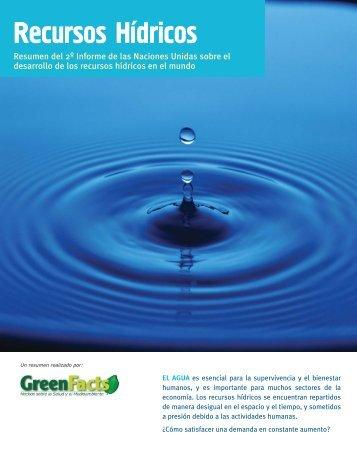 Recursos Hidricos - GreenFacts