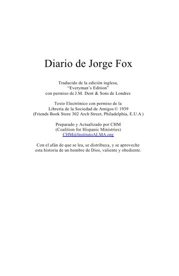 Diario Jorge Fox - Instituto ALMA