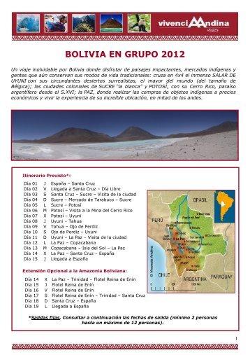 Bolivia Completo Grupo 2012 - Viajes Vivencia Andina - Viajes a ...