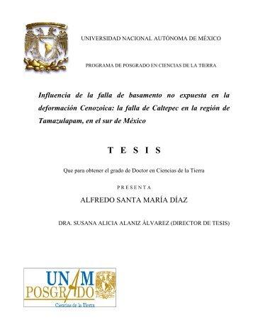 Santa María Díaz Alfredo - Centro de Geociencias ::.. UNAM