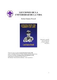 Lecciones de la universidad de la vida - Baden-Powell - The Dump