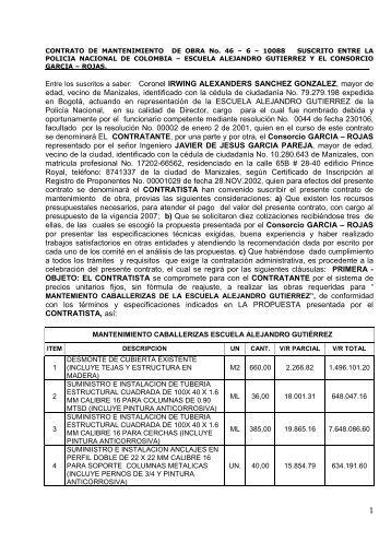CONTRATO CABALLERIZAS - Portal Único de Contratación