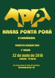 Catalogo Leilao Haras Ponta Porã e Convidados - CanchaReta.com ...