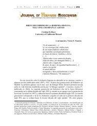 breve recorrido de la bohemia hispana - JOURNAL OF HISPANIC ...
