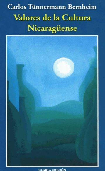 Libro - Valores de la cultura Nicaragüense - Parte 1 de 3 - Biblioteca ...