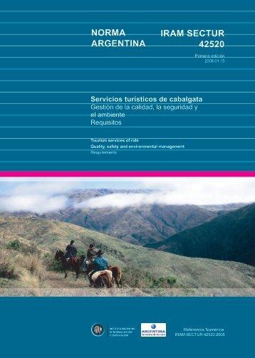NORMA ARGENTINA IRAM SECTUR 42520