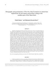 Petrography and geochemistry of the Ab-e-Haji Formation in central ...