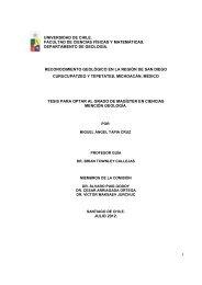 1 universidad de chile. facultad de ciencias físicas y matemáticas ...