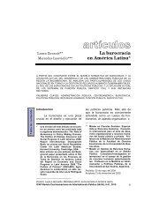 La burocracia en América Latina