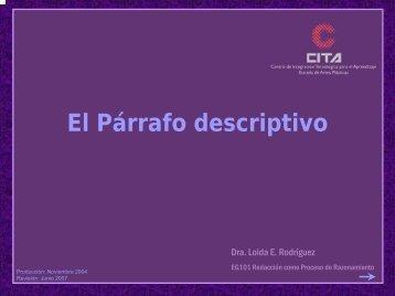 El Párrafo descriptivo - CITA