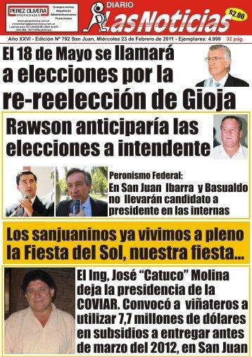 tapa y contratapa 1 - Diario Las Noticias