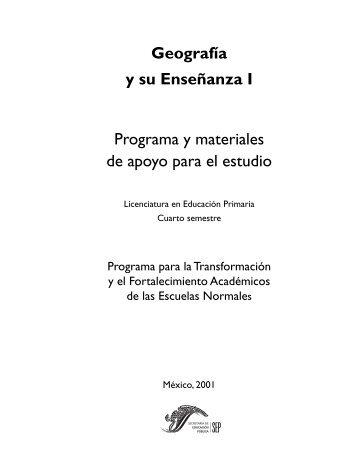 Geografía y su Enseñanza I - Escuela Normal del Estado