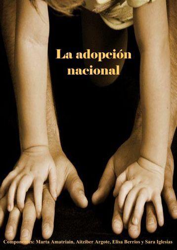 La adopción nacional