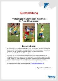 Spielfest fÅr F- und E-Junioren - 1899 Hoffenheim