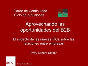Aprovechando las oportunidades del B2B - IESE Business School