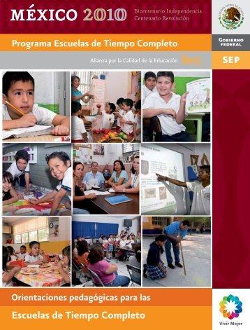 Orientaciones pedagógicas para las Escuelas de Tiempo Completo