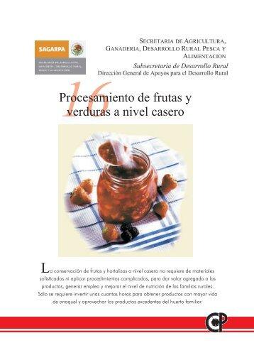 Procesamiento de frutas - Sagarpa