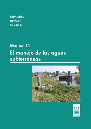 El manejo de las aguas subterráneas - Ramsar Convention on ...
