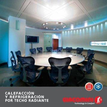 calefacción y refrigeración por techo radiante - Giacomini
