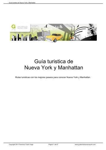 Guía turistica de Nueva York y Manhattan - Bienvenido a ...