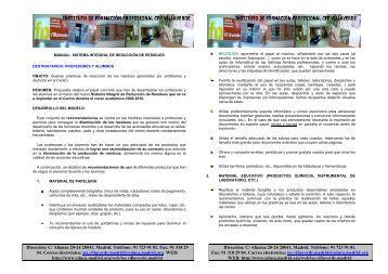 Manual para la gestión de residuos dirigido a ... - IES Villaverde