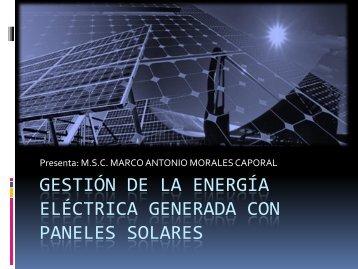 Gestión de la energía eléctrica generada con paneles ... - CUDI-Virtual