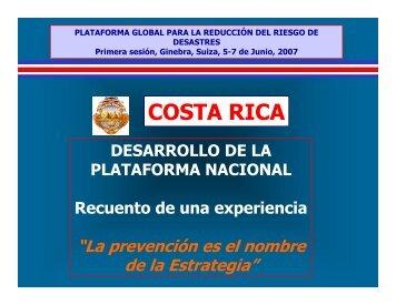 COSTA RICA - PreventionWeb