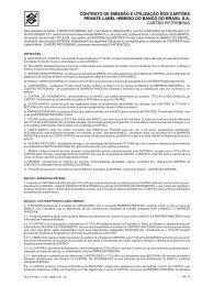 contrato de emissão e utilização dos cartões private label híbrido do ...