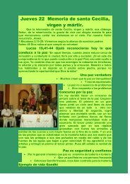 Jueves 22 Memoria de santa Cecilia, virgen y ... - Autores Catolicos