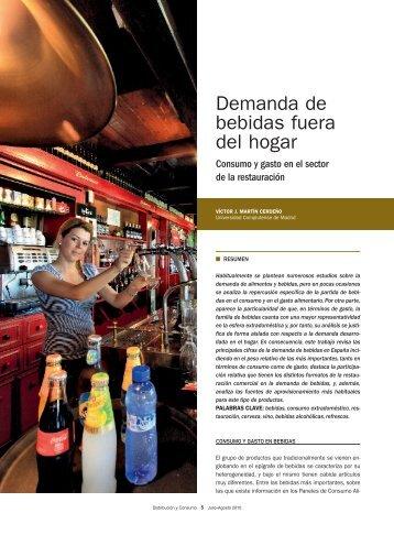 Demanda de bebidas fuera del hogar - Mercasa