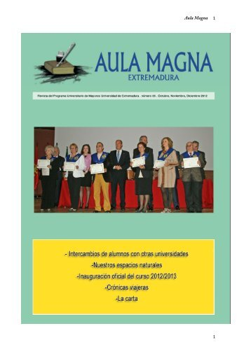 Aula Magna 1 1 - Universidad de Extremadura