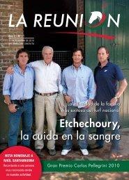 Etchechoury, la cuida en la sangre - Caballos del Mundo