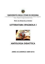 antologia didattica - Università degli Studi di Messina