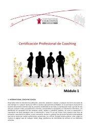 Módulo 1 Certificación Profesional de Coaching
