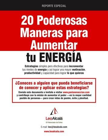 20 Maneras de Aumentar Energía v2.indd - Leo Alcalá